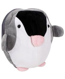 Penguin Shaped Soft Toy Bag - Black And White