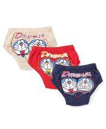 Doraemon Printed Briefs Set of 3 - Red Navy Cream