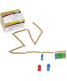 Eduedge Arithmetic Golden Bead Chain of 100