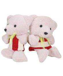 Curtain Holder Teddy Soft Toy - Light Pink