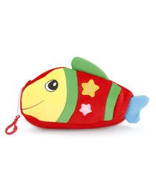 Fish Shape Pencil Pouch - Red Green