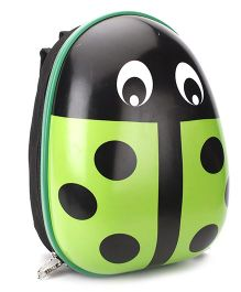 Beetle Print Backpack Green - 11 inches