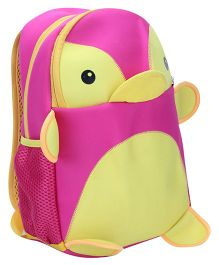 Penguin Shaped School Backpack - Pink