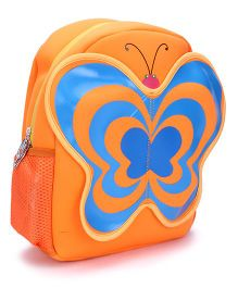 Butterfly Applique School Backpack - Orange