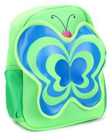 Butterfly Applique School Backpack - Green