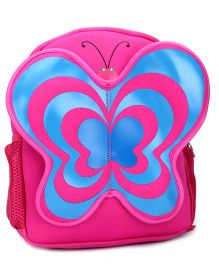 Butterfly Applique School Backpack - Pink