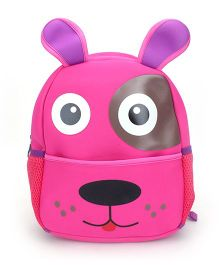 Puppy Face Print School Backpack - Pink