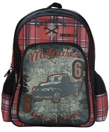 Safari McGuire Print Backpack Black - 18 inches