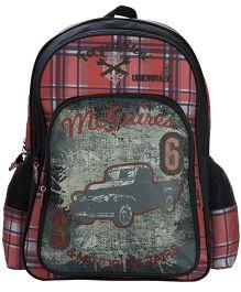 Safari McGuire Print Backpack Black - 18 inches