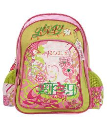 Safari Bags Gipsy Print Backpack Green - 16 inches