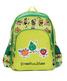 Safari Bags Freshables Print Backpack Green - 14 inches