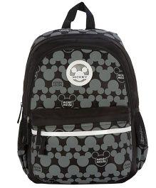 Safari Bags Mickey Mouse Print Backpack Black - 15 inches