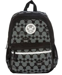 Safari Bags Mickey Mouse Topsy Turvy Print Backpack Black - 17 inches