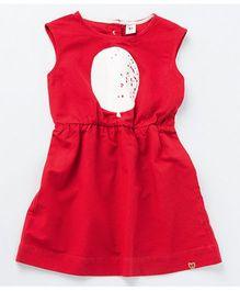 MilkTeeth Balloon Print Dress - Red