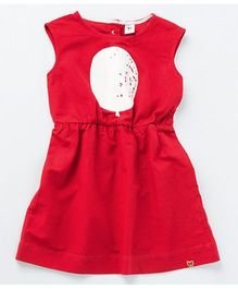 MilkTeeth Balloon Print Dress - Red