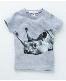 MilkTeeth Rhino Print Tee - Light Grey