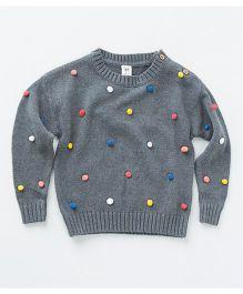 MilkTeeth Unisex Juggling Ball Sweater - Mid Grey