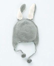MilkTeeth Unisex Bunny Cap - Mid Grey