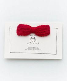 MilkTeeth Bow Hair Clip - Deep Red
