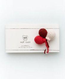MilkTeeth Unisex Balloon Brooch - Deep Red
