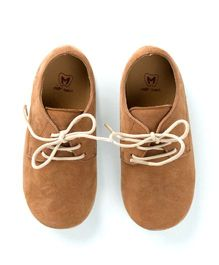 MilkTeeth Unisex Oxford Shoes - Tan Brown