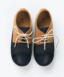 MilkTeeth Unisex Oxford Shoes - Navy Blue
