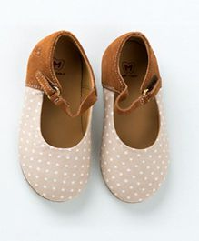 MilkTeeth Polka Dot Mary Jane Shoes - Peach