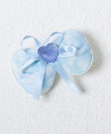Treasure Trove Heart Embedded Bow - Blue