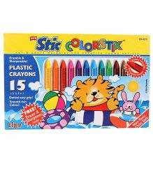 Stic Plastic Crayons - 15 Shades