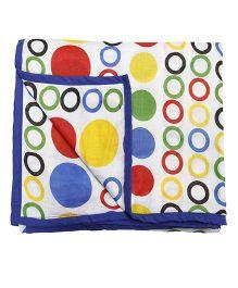 CocoBee Dot Print Dohar - Blue Multicolor