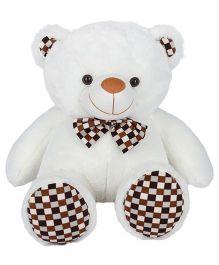Ultra Fluffy Polka Teddy Bear White - 25 inches
