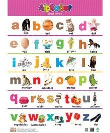 Alphabet Small Letters And Capital Letters Chart - English