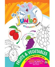 My First Jumbo Coloring Book Fruits And Vegetables - English