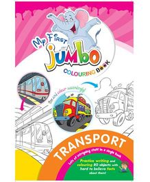 My First Jumbo Coloring Book Transport - English