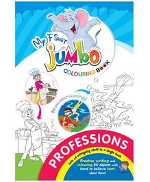 My First Jumbo Coloring Book Professions - English