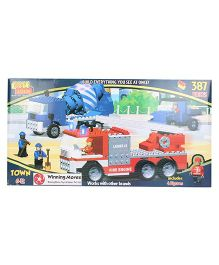 Best Lock Fire Engine Construction Toy - 387 Pieces