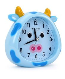 Cow Face Shaped Alarm Clock - Blue