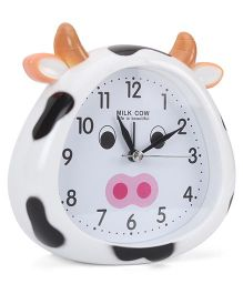 Cow Face Shaped Alarm Clock - White
