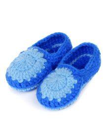 Funkrafts Handmade Baby Booties - Blue