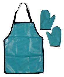 Funkrafts Waterproof Apron & Oven Gloves - Sea Green