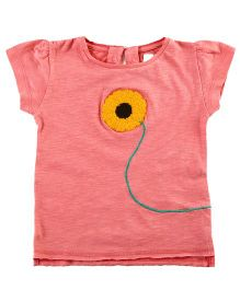 Cherry Crumble California Easy Fit Casual Top - Rustic Pink