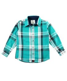 Cherry Crumble California Plaid Shirt - Blue