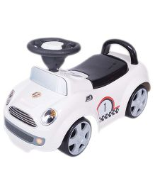 EZ' Playmates Time Ride On Cooper Car - White