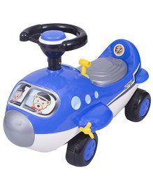 EZ' Playmates Mini Cartoon Plane Ride On - Blue