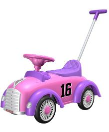 EZ' Playmates Classic Car Ride On With Navigator - Pink
