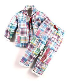 Cherry Crumble California Patterned Comfy Night Suit - Pink