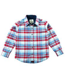 Cherry Crumble California Checkered Shirt - Blue & Red