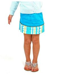 Cherry Crumble California Skirt - Turquoise Blue