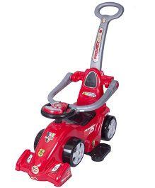 EZ' Playmates Ride On Formula Car With Navigator - Red