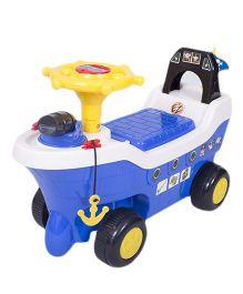 EZ' Playmates Ride On Pirate Ship - Blue